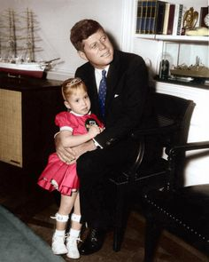 President John F. Kennedy meets the 1962 March of Dimes Poster Child Debbie Sue Brown. Oval Office, White House, Washington D.C. ~ Jan. 12th, 1962