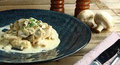 Κοτόπουλο με μανιτάρια a la creme Creme, Meat, Chicken, Food, Essen, Meals, Yemek, Eten, Cubs