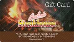 Beelow's Steakhouse, Lake Zurich, IL