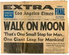 July 20, 1969 - first man on the moon.