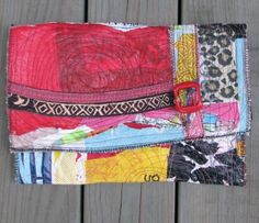 clutch made with recycled fuse plastic bags