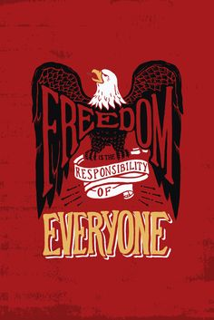 Freedom is something we often take for granted. It is important to remember that people all over the world have been robbed of their freedom, and it is our responsibility to ensure that everyone is given the right to live free from fear. Wear this bold design featuring the iconic American symbol of a Bald Eagle and light a fire in others to defend freedom!