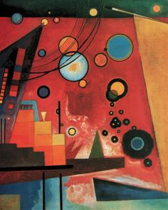 Schweres Rot  // By Wassily Kandinsky