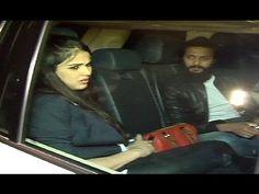 Riteish Deshmukh & Genelia D'Souza Attends Shahrukh Khan Party 2016 At Mannat.