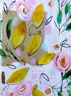 Obst-Zitronen-original-Gemälde  von CelineArtGalerie auf Etsy