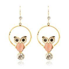 Delicate Zircon Inlaid Owl Necklace,Owl Earrings,Owl,Owl Jewelry,Harry potter owl earrings