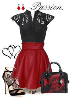 """""""Passionate"""" by seafreak83 ❤ liked on Polyvore featuring Funlayo Deri, Jimmy Choo, Alexander McQueen, Chanel and ADORNIA"""