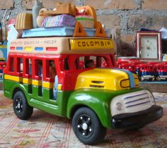 Chiva - Colombia Recycling, Birthday Parties, Toys, Crafts, Handmade, Peru, Landscapes, Sculpture, Facebook