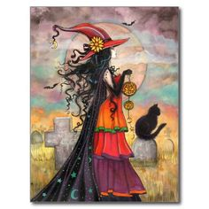 colourful witch