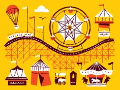 Roller coasters and things by Anna Hurley