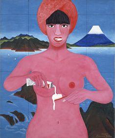 横尾忠則『歯みがき』 1966年頃 アクリル・キャンバス 72.5×60.5cm 東京都現代美術館蔵