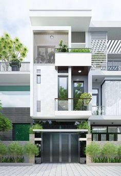 A aparência reta e clean da platibanda fica valorizada pelo volume que ela oferece a fachada