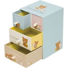 #Rilakkuma mini drawers ^o^ デスクチェスト(リラックマ・ブルー)