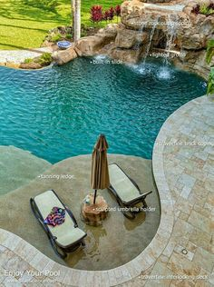 Custom swimming pool in River Oaks Estate with tanning ledge, stone rock grotto . Custom swimming pool in River Oaks Estate with tanning ledge, stone rock grotto and travertine deck