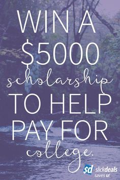 Win a $5,000 scholarship from Slickdeals for the Fall 2016 semester. We're giving away two of them, deadline is April 30. #college #scholarship #studentlife