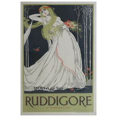 Original Art Nouveau Period Ruddigore Poster Gilbert And Sullivan Opera   eBay