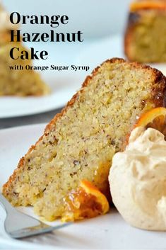 Give this dense, super moist orange hazelnut cake a try! The easy orange sugar syrup for cakes makes this one of the most … Baking Recipes, Cake Recipes, Dessert Recipes, Baking Desserts, Orange Syrup Cake, Moist Orange Cake Recipe, Snacks Sains, Hazelnut Cake, Food Cakes