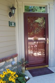 Storm Door With Hide Away Screen