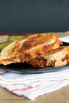 Sloppy Joe Grilled Cheese - The Recipe Rebel
