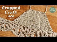 Top Cropped de crochê passo a passo Crochet Bikini Pattern, Crochet Halter Tops, Crochet Bikini Top, Crochet Blouse, Crochet Patterns, Top Tejidos A Crochet, Diy Crochet, Crochet Baby, Crochet Summer Tops