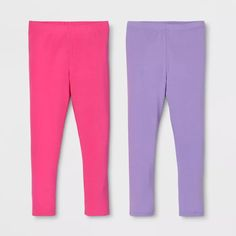 Toddler Girls 2pk Leggings Set - Cat & Jack™ Pink/Purple : Target