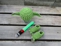 FREE SHIPPING  Newborn Star Wars Yoda SetYoda Cape Hat by Etvy