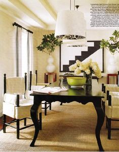 How to paint furniture black.  And you must!