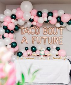 Planning a going away party for a taco lover? Taco Bout a Future was a clear theme winner! This blush, green and gold party is stunning. Grad Party Decorations, Graduation Party Centerpieces, Graduation Party Decor, Graduation Ideas, Graduation Gifts, College Graduation, Outdoor Graduation Parties, Graduation Party Planning, Nurse Grad Parties
