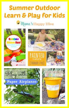 Summer Outdoor Learn & Play for Kids via Mama's Happy Hive