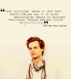 Words of wisdom from a hottie!
