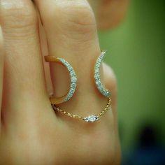 """rubies.work/… 0674-ruby-rings/ """"Ellipsis"""" Diamond Open Ring – Plukka – Shop…"""