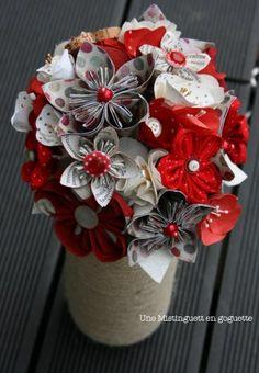 bouquet de mariée dots  création Une Mistinguett en goguette