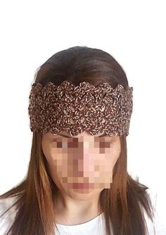 Crochet brown headband. Crochet earwarmer. Turban. Hairband. Knit ear warmer. #crochet #turban