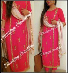 #pintrest@Dixna deol Designer Punjabi Suits Patiala, Indian Designer Suits, Indian Suits, Indian Attire, Indian Wear, Punjabi Fashion, Bollywood Fashion, Suits For Women, Clothes For Women
