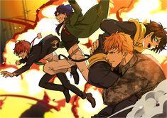 """ぽが on Twitter: """"かくかくしかじかで爆発に巻き込まれる三番手組(無事脱出)… """" Cute Anime Boy, Anime Guys, Anime People, Otaku, Korean Painting, Video Game Anime, All Star, 19 Days, Rap Battle"""