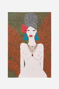 Hannah Carrick  'Goddess'  60cm x 90cm Acrylic & house paint on canvas