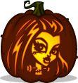 Frankie Stein pumpkin pattern - Monster High - Pumpkin Carving Patterns and Stencils - Zombie Pumpkins!