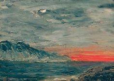 wonderingaboutitall:  Sunset -  August Strindberg