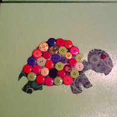 Baby project. Turtle with buttons.