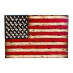 Metal Wall Decor With American Flag Replica | Overstock.com Shopping - The Best Deals on Accent Pieces