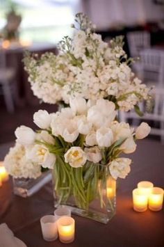white tulip centerpiece.... by isabelle07