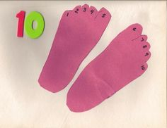 Easy Preschool Learning Craft: Number 10 Craft - 10 Toes