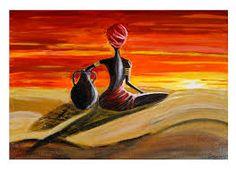 Resultado de imagen para cuadros de paisajes africanos