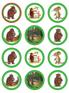 The Gruffalo Cup Cake Toppers | Tempting Toppers