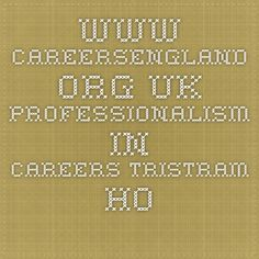 www.careersengland.org.uk  Professionalism in careers Tristram Hooley, Claire Johnson and Siobhan Neary1 This briefing paper sets out the background, evidence and key issues relating to professionalism in careers work in England. 2 The work is produced on behalf of Careers England and the Career Development Institute (CDI), but the paper does not represent the policy of either organisations.