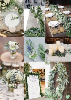 #Wedding #Floral Arrangements Using #Sage Mood Board from The Wedding Community