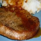 Apple Cider Sauce and Pork Loin Chops -- Very tasty.  My oldest said they were his favorite pork chops ever.
