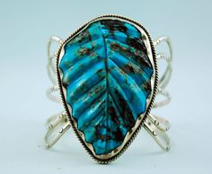 Native American Navajo Indian Silver Turquoise Bracelet Cuff Albert Platero
