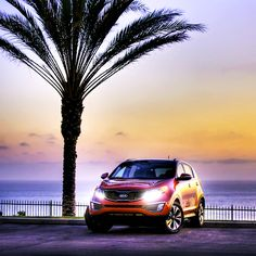 """""""Let the shades of the sunset relax your mind. Crossover Suv, Kia Motors, Kia Sportage, Sunset, Vehicles, Awesome, Classic, Relax, Korean"""