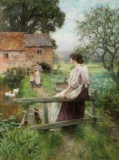 Henry John Yeend King - By a Water Mill